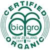 NZ Organic Certified logo