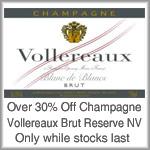$30 Champagne Vollereaux Reserve Brut NV